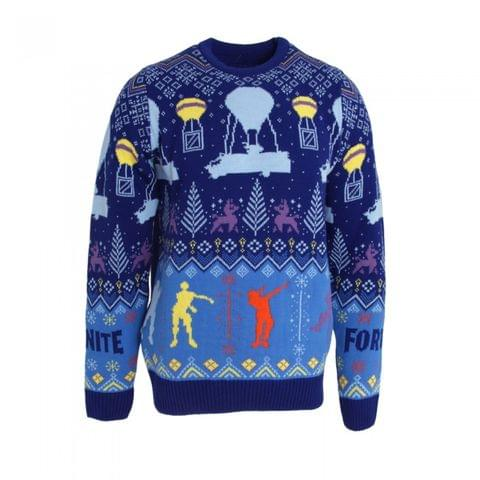 Fortnite Childrens/Kids Flossing Around The Christmas Tree Knitted Jumper