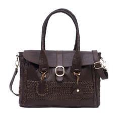 Handcrafted Vintage Mesh Ladies Handbag Brown