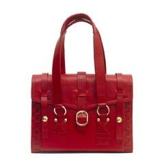 Handcrafted Ladies Satchel Bag Red