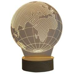 3D Acrylic Table Lamp World Map Design