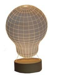 3D Acrylic Table Lamp Light Bulb Design