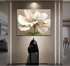 Beautiful Flower Framed Canvas Print