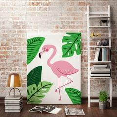 Pink Flamingo Framed Canvas Print