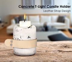 Leather Strap Candle Holder