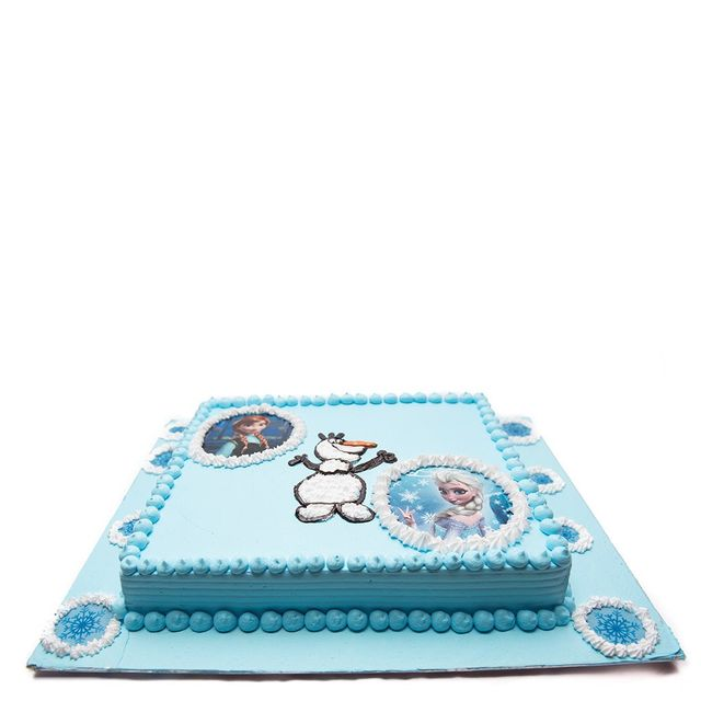 Frozen's Anna, Elsa & Olaf Photo cake
