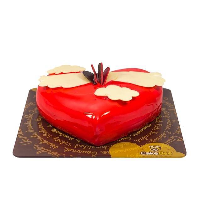 Angel heart cake