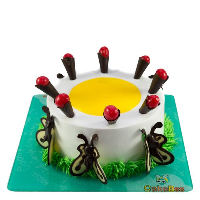 Yellow Butterfly Cake