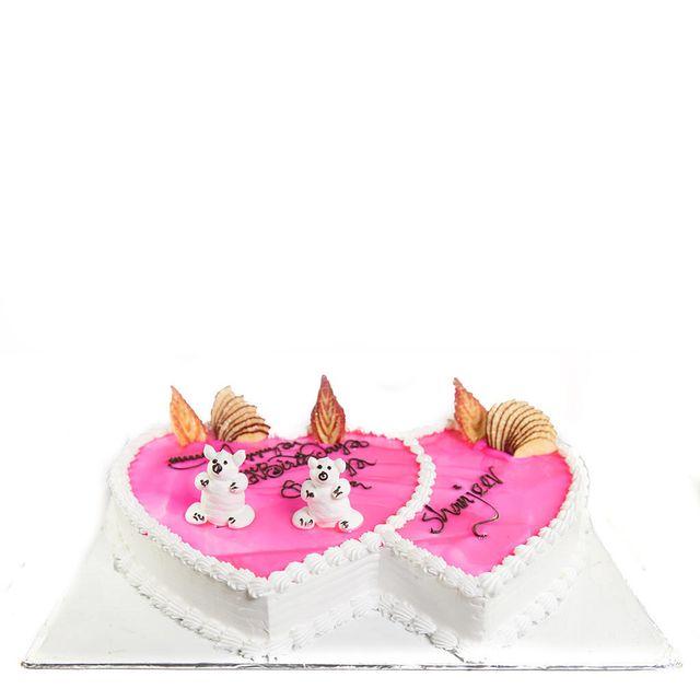 Twin Hearts Cake