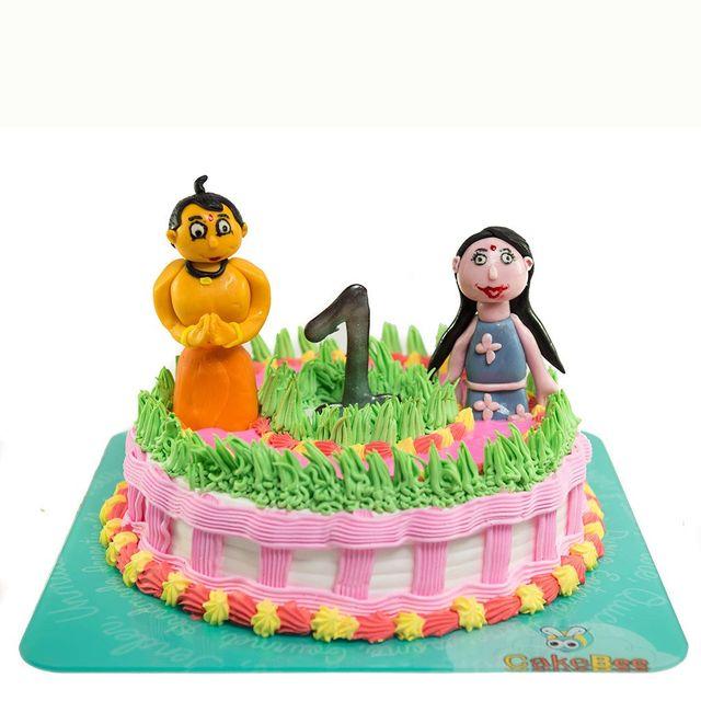 Chhota Bheem & Chutki Cake