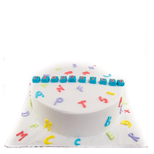 Fun with Alphabets Cake