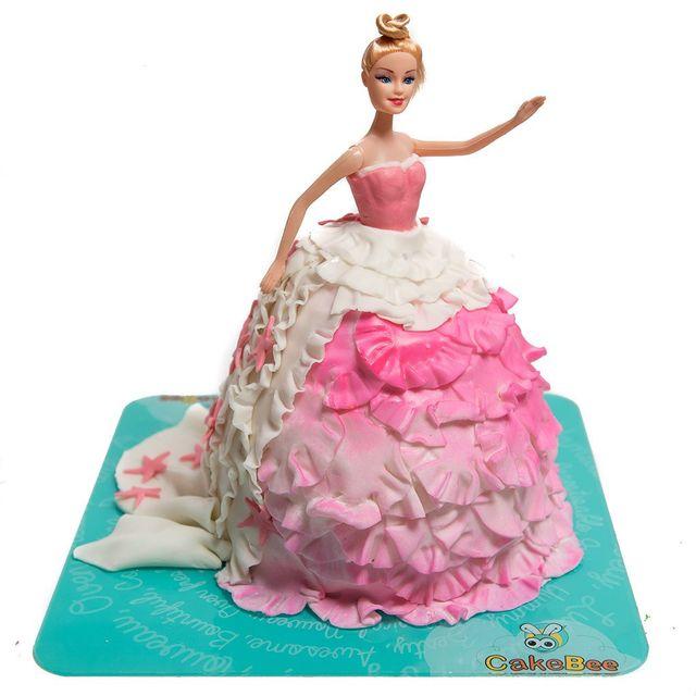 Barbie Fondant Cake