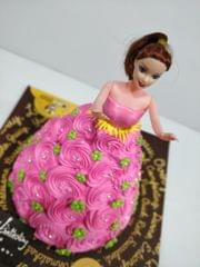 Barbie & Her Pink Gown Cake