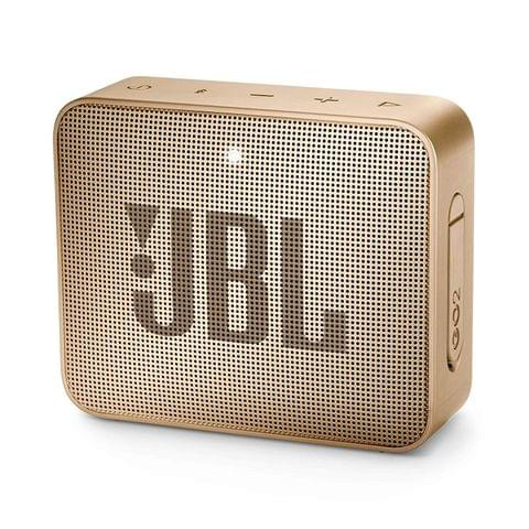 JBL Go 2 Portable Waterproof Bluetooth Speaker with mic (Champagne)