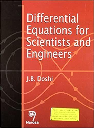 Differential Equations for Scientists and Engineers   342pp/PB