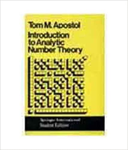 Introduction to Analytic Number Theory   350pp/PB