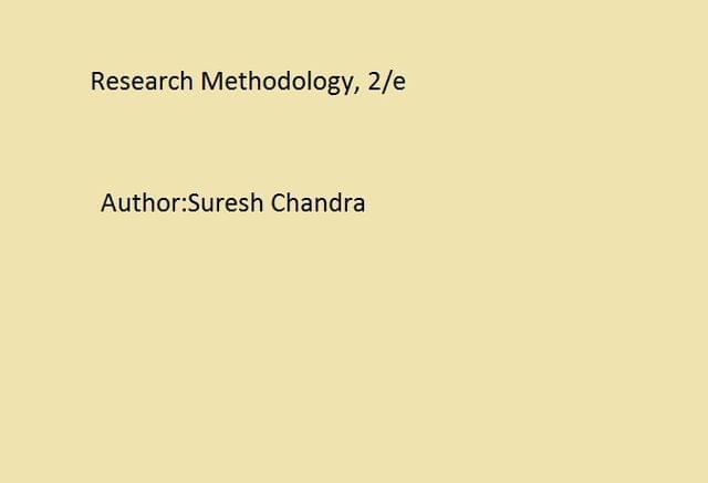 Research Methodology, 2/e