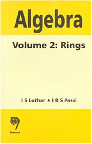 Algebra: Volume 2:Rings   349pp/PB