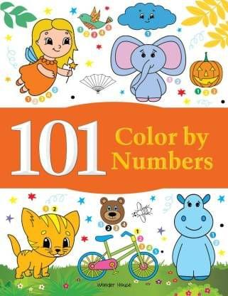 101 Color By Numbers: Fun Activity Book For Children