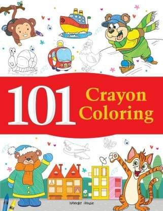 101 Crayon Coloring: Fun Activity Book For Children