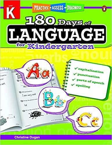 180 Days Of Language Grade Kindergarten