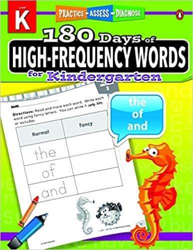 180 Days of High-Frequency Words Grade Kindergarten