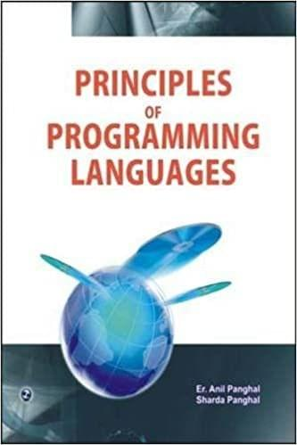 Principles of Programming Languages�