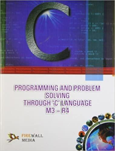 Programming and Problem Solving Through C Language M3-R4