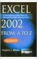 Excel 2002 from A to Z