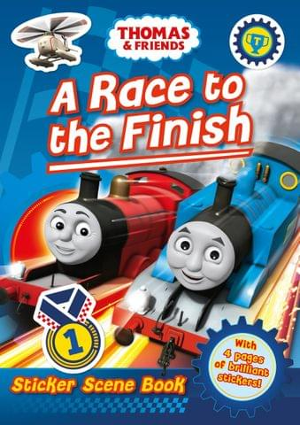 A Race to the Finish Sticker Scene