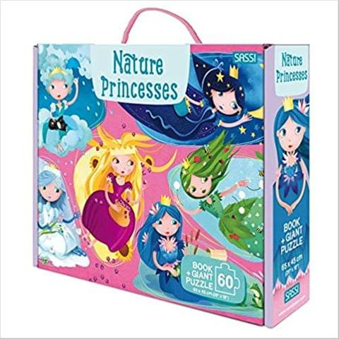 GIANT PUZZLE AND BOOK - NATURE PRINCESSES - N.E. 2020