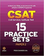 15 Practice Sets  CSAT Paper2 Civil Services Aptitude Test