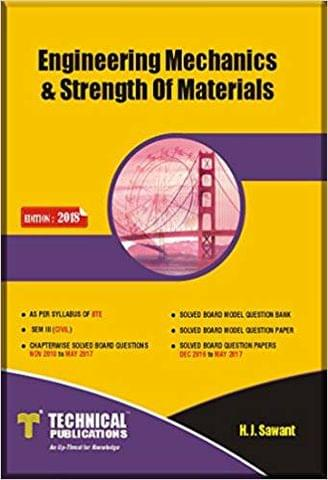 Engineering Mechanics & Strength of Materials for Diploma Karnataka ( Sem-III CIVIL Course 2015 )
