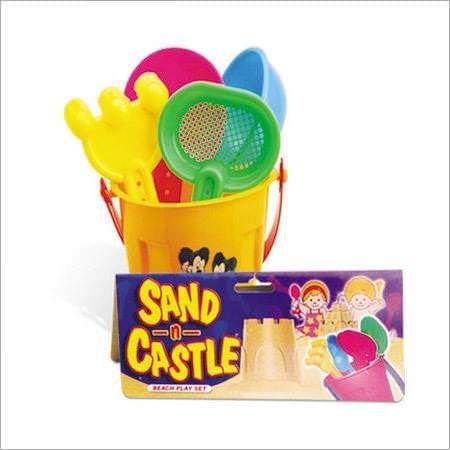 SAND & CASTLE BEACH SET POP. (NET PACKING)