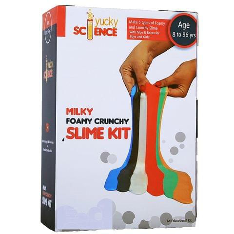 Milky Foamy Crunchy Slime Kit for Boys and Girls ( 5 Activities with Glue, Color and Borax)