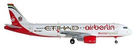 Herpa Air BERLIN/ETIHAD A320 1/200 Moving Forward