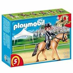 Playmobil German Sport Horse with Dressage Rider and Stable  (Multicolor)