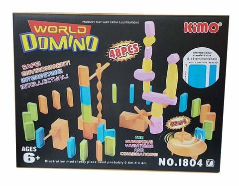 Magicwand. Set of Educational Domino Rally Building Blocks Racing Tile Game (48 Pcs)