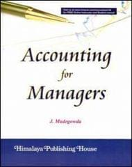 Accounting for Managers