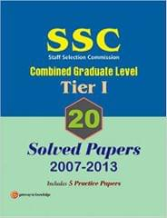 SSC Combined Graduate Level (Tier 1) : 20 Solved Papers (2007 - 2013) 10th Edition