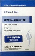 DU Bcom 1st Year Financial Accounting 10 Prev Year Solved Papers