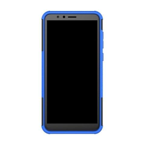Bracevor HON7XDKSBU Back Case Cover with Kickstand for Huawei Honor 7X (Blue)