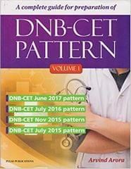 A Complete Guide For Preparation Of DNB-CET Pattern Vol 1 2018