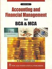 Accounting and Financial Management for BCA & MCA