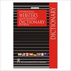 International Webster`s Quick Reference Dictionary Notebook