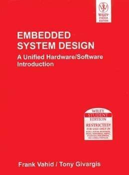 Embedded System Design A Unified Hardware Software Intro