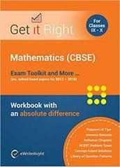 Mathematics (Cbse) Exam Toolkin & More For Class 1X & X