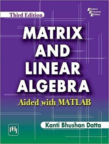 Matrix And Linear Algebra :Aided With Matlab Ed-3