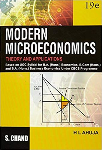 Modern Micro Economics Theory & Appns.