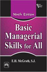 Basic Managerial Skills For All Ed.9
