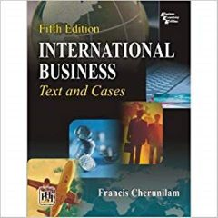 International Business Text & Cases Ed.5